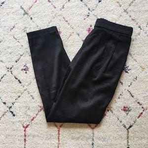 H&M Black Pleated Trouser Pants